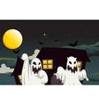 Halloween Ghost Background vector image
