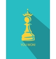 pawn in crown flat vector image