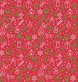 seamless pattern of christmas and new year vector image
