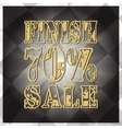 Design finish sale banner Big discount vector image