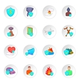 Insurance icons cartoon style vector image