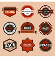 Racing badges vintage style vector image