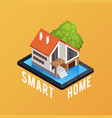 smart home isometric composition poster vector image