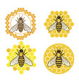 honey bee set vector image