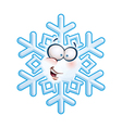 Snowflake Head Hi vector image