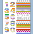 numbers in patchwork style vector image