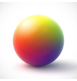 Colorful sphere on white background vector image