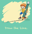 Draw the line vector image