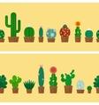 Cactus horizontal background vector image