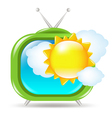 Retro Weather TV vector image vector image