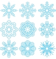 Beautiful Snowflakes Set vector image