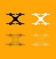 drone set black and white icon vector image
