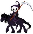 grim reaper cartoon vector image