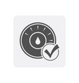 quality control at home icon with thermostat sign vector image