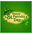 st patrick day green poster vector image