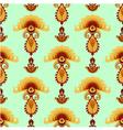 Stylized mushroom ornament seamless pattern vector image