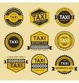 Taxi insignia vintage style vector image vector image