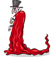 halloween vampire cartoon vector image