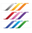 Banner ribbons in various colors vector image vector image