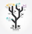 infographics tree design diagram line style templa vector image