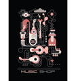 music factory drawing and color vector image vector image