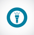 Flashlight icon bold blue circle border vector image