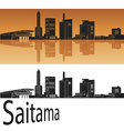 Saitama skyline in orange vector image vector image
