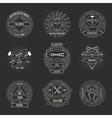 Blacksmith and forging logo or emblem vintage vector image vector image
