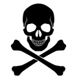 Crossbones and skull vector image vector image