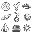astronomical icons vector image