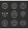 Blacksmith and forging logo or emblem vintage vector image