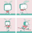 Cartoon Characters TVTOON 10 vector image