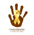 Childhood cancer day golden ribbon vector image