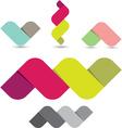 Colorful Ribbon Shapes vector image