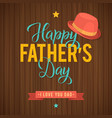 father s day greeting card retro style vector image