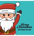 greeting merry christmas and happy new year vector image