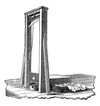 Guillotine vintage engraving vector image