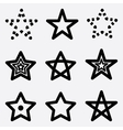 icons stars vector image