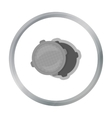 Manhole icon in cartoon style isolated on white vector image
