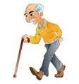 old man walking illlustration vector image