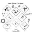 Sport Silhouette icons vector image