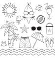 Hand Drawn Beach Set vector image
