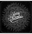 Christmas Logo On Chalk Background vector image