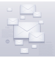 mail background vector image vector image