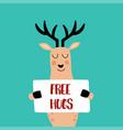 free hugs vector image