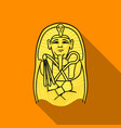 egyptian pharaoh sarcophagus icon in flat style vector image