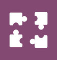 icon on background kids puzzle vector image
