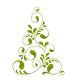 orante christmas tree vector image