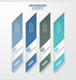 4 options modern and clean business infographics vector image