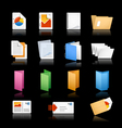 Printing Icons Black Background vector image vector image